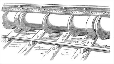 Portion of the tube on the line, 1845. Creator: Unknown.