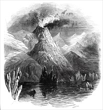 Eruption of Mount Hecla, 1845.  Creator: Smyth.