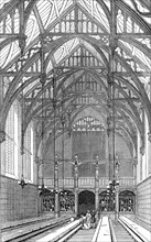 The Great Hall, south end, Lincoln's Inn New Buildings, 1845. Creator: Unknown.