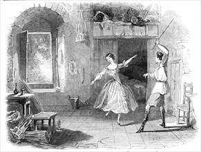 """Scene from the ballet of """"Le Diable a Quatre"""", at the Princess' Theatre, 1845. Creator: Unknown."""