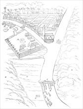 Plan of attack on the Borneo pirates, 1845. Creator: Unknown.