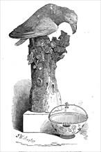 China bird, and Japan sugar basket, 1845. Creator: John Wykeham Archer.