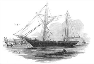 "The schooner ""Echo"", St. Katherine's Docks, 1845. Creator: Ebenezer Landells."