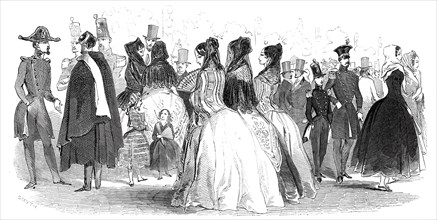 Costumes of the Prado, 1845. Creator: Smyth.