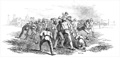 Foot Ball at Rugby, 1845. Creator: Smyth.