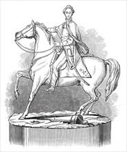 Silver statue of the Duke of Wellington, 1845. Creator: Unknown.