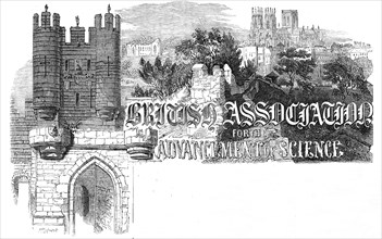 York Minster and the city walls, 1844. Creator: Unknown.