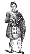 Portrait of a highland guardsman, at Blair Athol, 1844. Creator: Unknown.