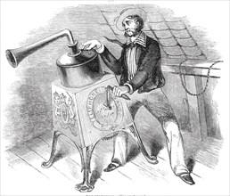 The Telephone; a telegraphic alarum, 1844.  Creator: Unknown.