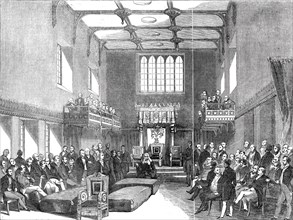 House of Lords - the Lord Chancellor pronouncing judgment in the case of the Queen v. O'Connell, 184 Creator: Unknown.