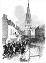 The procession, St. Mary's Hill, Stamford, 1844. Creator: Unknown.