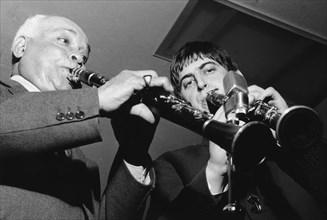 Albert Nicholas and Andy Cooper, 1967.