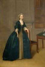 Portrait Of A Woman In Dark Blue