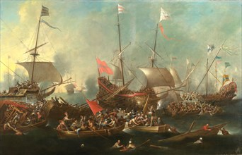 The Battle of Lepanto - A Sea Battle between Christians and Barbary Corsairs