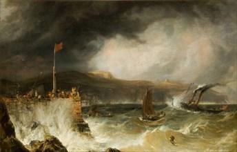 Packet Boat Entering Harbour