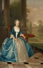 Portrait Of A Woman In Light Blue