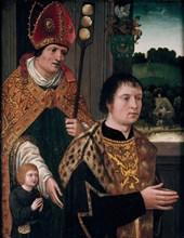 Portrait of Nicholas Gaze and His Son and St Nicholas