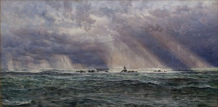 A North West Gale off the Longships Lighthouse