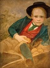 Study For A Boy Sitting On A Wheelbarrow