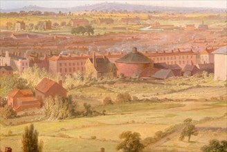 Birmingham from the Dome of St Philip's Church in 1821. Creator: Samuel Lines.