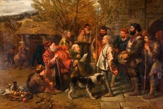 Sir John Falstaff Reviewing His Ragged Regiment