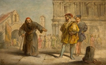 Scene From Shakespeare's The Merchant Of Venice