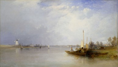 View Of The Thames At Battersea