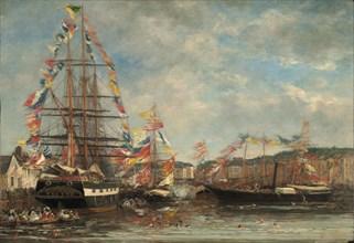 Festival in the Harbor of Honfleur