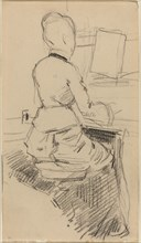 Young Woman Seated at a Piano [recto]