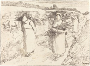 Peasants Carrying Sticks
