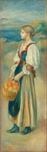 Girl with a Basket of Oranges