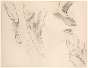 Figure Studies of a Nude Youth