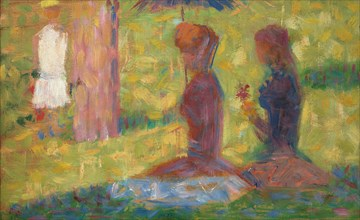 """Study of Figures for """"La Grande Jatte"""""""