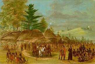 Chief of the Taensa Indians Receiving La Salle. March 20