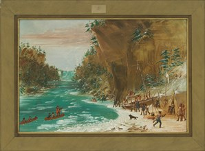 The Expedition Encamped below the Falls of Niagara. January 20
