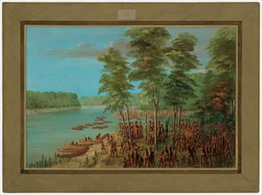 La Salle Taking Possession of the Land at the Mouth of the Arkansas. March 10