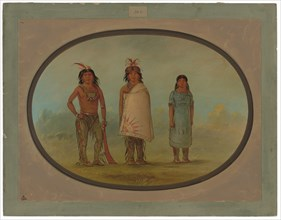 Two Chippewyan Warriors and a Woman
