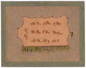 Facsimile of Chief Four Men's Robe - Mandan