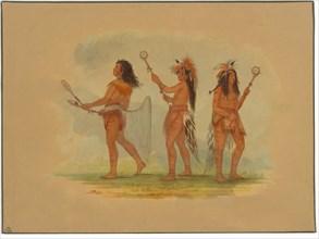 Three Celebrated Ball Players - Choctaw