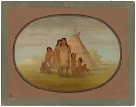 Camanchee Chief's Children and Wigwam