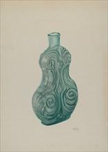 Blue-Green Corset Flask