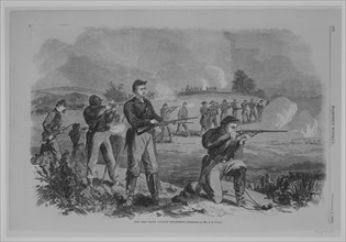 The First Maine Cavalry Skirmishing