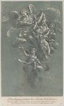 Three angels carrying Gideon's fleece; from 'Recueil d'estampes d'après les plus be...