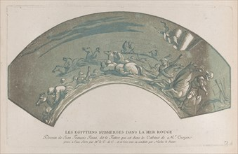 Pharaoh's army engulfed by the Red Sea; from 'Recueil d'estampes d'après les plus b...