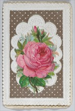 Valentine - Mechanical Layered Birthday - die cut roses and woman.