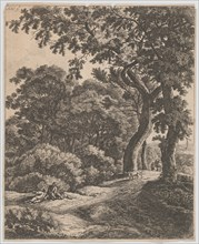 Two Travellers Resting in the Woods