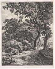 Two Travelers Resting in the Woods