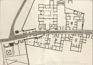 Large plan of the entrance of the town of Pompeii