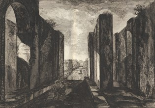 View of the interior of the city of Pompeii