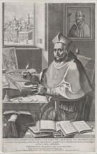 Cardinal Roberto Bellarmino at his desk